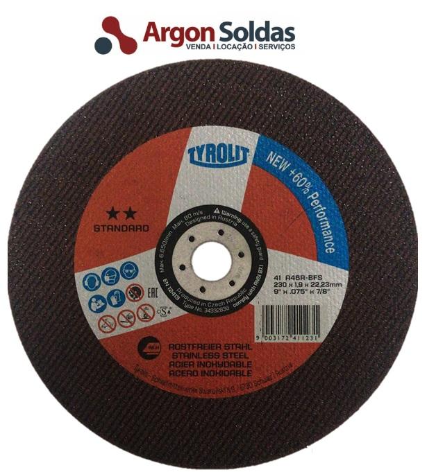 DISCO CORTE 41X 230X1,9X22,23 A46RBFS TYROLIT TYROLUTION STANDARD