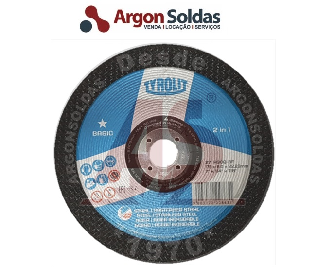 DISCO DESBASTE 27C 178X6X22,23 A30QBF TYROLIT BASIC