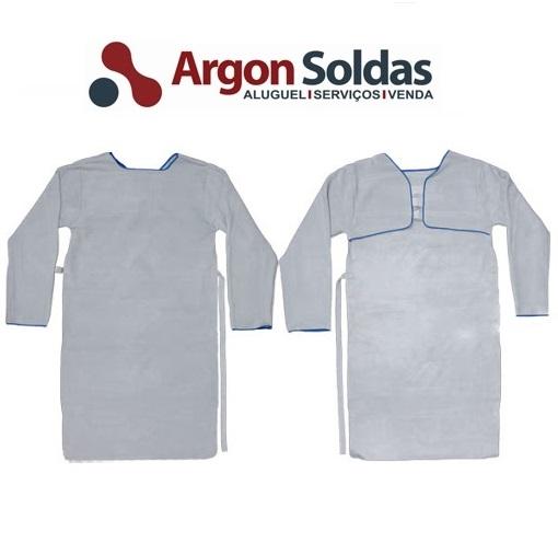 AVENTAL DE RASPA BARBEIRO C/ MANGA 1,20X0,60 CM
