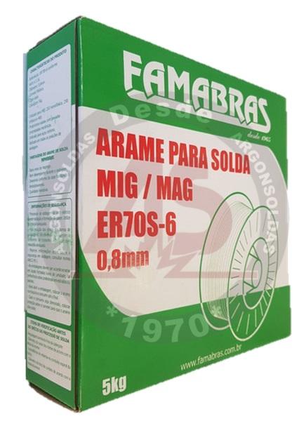 ARAME MIG ER70S-6 0,8MM 5KG